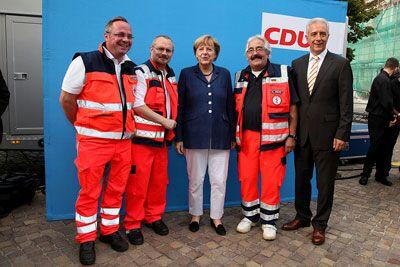 Wahlkampfveranstaltung der CDU in Grimma und Wurzen